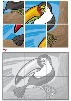 Jigsaw Puzzle with Toucan Puzzle games Shape Worksheets For Preschool, Preschool Puzzles, English Worksheets For Kids, Shapes Worksheets, English Activities, Fun Activities For Kids, Learning Cards, Baby Learning, German Language Learning