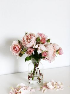 pink & blush arrangement #blooms #flowers