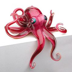 Red Hungover Octopus by Michael Hopko
