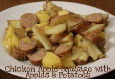 Chicken Apple Sausage with Apples and Potatoes