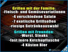 Kleiner Unterschied, aber beides toll :) #grillen #Grillsaison #Freunde #Familie #lustig