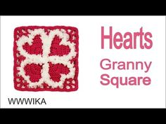 How to Crochet a Heart Granny Square pattern free tutorial by WWWIKA - YouTube