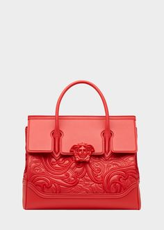 Versace Embroidered Palazzo Empire Bag for Women Versace Bag, Versace Handbags, Fashion Handbags, Purses And Handbags, Fashion Bags, High Fashion, Luxury Purses, Luxury Bags, Beautiful Handbags