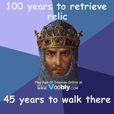 "Age of Empires: Noah's Inflexible Ark - Funny memes that ""GET IT"" and want you to too. Get the latest funniest memes and keep up what is going on in the meme-o-sphere. Age Of Empires 2, Age Of King, Videogames, Video Game Logic, History Class, Funny History, History Jokes, Strategy Games, Gaming Memes"