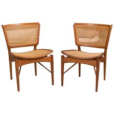 Set of Four Finn Juhl NV -51 Chairs | From a unique collection of antique and modern dining room chairs at https://www.1stdibs.com/furniture/seating/dining-room-chairs/