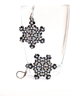 Beaded Earrings Swarovski Earrings Crystal by JewelrybyFlorist, $65.00