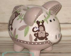 Tema selva pintado cerámica a mano artesanal por Alphadorable