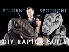 Fans' Velociraptor Costumes Bring Dinosaurs to Life in honor of Jurassic World Costume Tutorial, Cosplay Tutorial, Cosplay Diy, Halloween Cosplay, Halloween Costumes, Puppet Costume, Dragon Costume, Dinosaur Costume, Cool Costumes