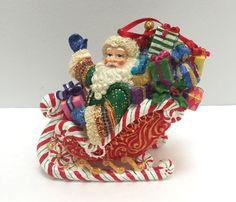 Christopher Radko Candy Ride Santa II Ornament 4.5 in Tall  | eBay