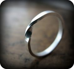 Moebius ring - recycled sterling silver ring. $35.00, via Etsy.