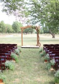 Beautiful outdoor altar! Photo by Aaron Snow Photography. #wedding #altar #rustic #outdoor