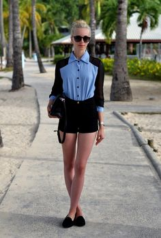 VOGUE HAUS: CASUAL BLACK AND BLUE