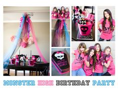 Monster High Birthday....Jordan wants this theme for her Birthday!  She loves the skulls!!!