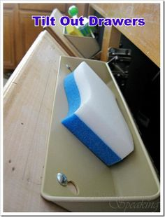tilt out drawers for the fake drawers under the sink! - we had this at our rental! DOING THIS at our home! <3