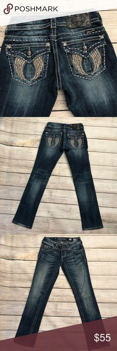 Miss Me Straight Jeans Excellent condition Miss Me Jeans