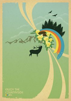 Enjoy The Countryside - Retro Poster Design  format: DIN A2 (42,0 x 59,4 cm) print: 135g/m² offset print