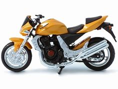This Kawasaki Z1000 Diecast Model Motorcycle is Orange and features working stand, steering, suspension, wheels. It is made by Maisto and is 1:18 scale (approx. 11cm / 4.3in long).  ...
