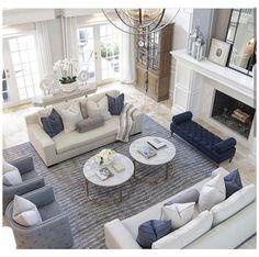 Cream Living Rooms, Living Room Grey, Formal Living Rooms, Home Living Room, Dining Rooms, Rectangular Living Rooms, Dining Sets, Traditional Living Rooms, Modern White Living Room