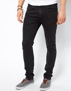 €113, Dunkelgraue Enge Jeans von Lee. Online-Shop: Asos. Klicken Sie hier für mehr Informationen: https://lookastic.com/men/shop_items/19121/redirect