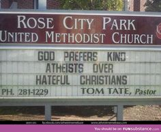 Spoken from the source! Take that pushy, judgmental Religious people!
