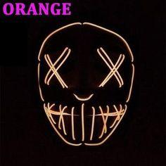 "Clubbing Light Up ""Stitches"" LED Mask Costume Halloween Rave Cosplay Party Xmas Halloween Club, Halloween Rave, Halloween Cosplay, Halloween Costumes, Creepy Masks, Club Lighting, Light Up, Horror, Xmas"