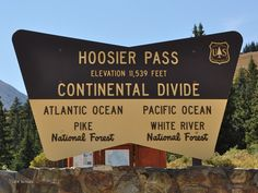 Hoosier Pass, Continental Divide, Colorado feet high Go South to Fairplay - Go North to Breckenridge Road Trip To Colorado, Living In Colorado, Colorado Homes, Colorado River, Colorado Rockies, Colorado Mountains, Rocky Mountains, Colorado Springs, Colorado Vacations