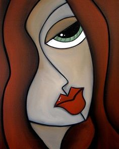 Thomas C. Fedro - abstract face | Art: Faces1165 1620 Original Abstract Art Painting Antidote by Artist ...