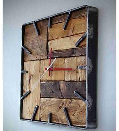 / vividoff - - Wall clock / vividoff – – Handmade Clock -Wall Clock / vividoff - - Wall clock / vividoff – – Handmade Clock - vividoff / Hodiny nástenné industry -OSB vividoff / Hodiny nástenné Huge Hammered Copper She Welded Furniture, Industrial Design Furniture, Steel Furniture, Plywood Furniture, Diy Wood Projects, Furniture Projects, Diy Furniture, Handmade Clocks, Diy Clock
