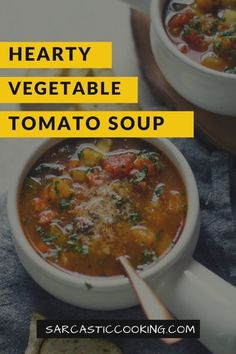 hearty vegetable tomato soup (slow cooker or stovetop) - sarcastic cooking