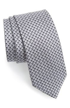 Men's Lanvin Woven Silk Tie - Grey