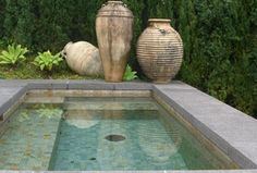 Contemporary Hot Tub with Pool with hot tub, exterior tile floors, exterior concrete tile floors