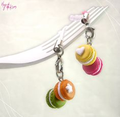 Macarons Charm Dust Plug - Cellphone Mini Food Accessory - Dollhouse Food Miniature on Etsy, $162.60
