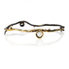 ef59da0406f Seafire bracelet made in silver, 18, 22 & 24 carat gold with keshi pearl