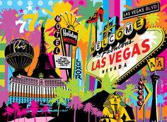 Las Vegas | Lobo | Pop Art #vegas #popart www.lobopopart.com