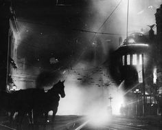 vintage everyday: Bombing of the Los Angeles Times, 1910-Northeast corner of 1st and Broadway, seven minutes past 1 A.M, October 1st, 1910