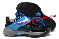 new product 73a28 14c22 Kevin Durant Shoes - Nike Zoom KD 4(IV) BlackBlue Kevin Durant