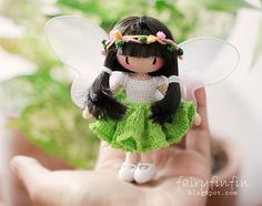 Crochet Butterfly fairy doll by FairyFinFin on Etsy, $45.00. She is wonderful and one of a kind.