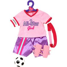 "my life doll accessories | My Life Doll Soccer Girl Outfit Set for 18"" doll"