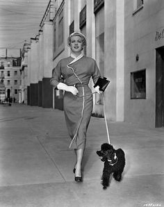 Lana Turner with Poodle