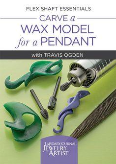 Buy - Flex Shaft Essentials: Carve a Wax Model for a Pendant with Travis Ogden… Easy Pumpkin Carving, Carving Pumpkins, Wax Carving, Lost Wax Casting, Resin Casting, Metal Jewelry, Jewelry Tools, Diy Jewelry, Jewlery