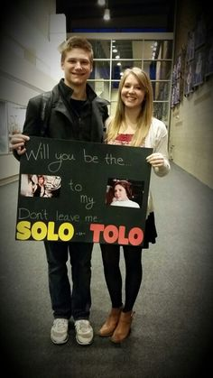 How i asked my boyfriend to tolo! He loves Star Wars :)