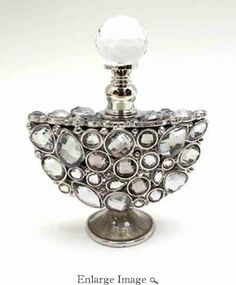 Well Jeweled Clear Jeweled Perfume Bottle // inspiration for making miniature perfume bottles!!