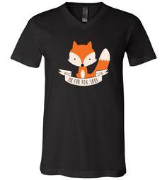 cool Oh For Fox Sake Unisex V-Neck T-Shirt