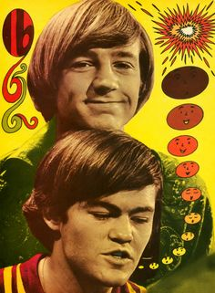 The Monkees' Peter Tork & Micky Dolenz ( 60's Music Poster / Psychedelic Art )