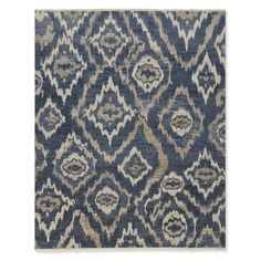 River Ikat Hand Knotted Rug, Blue/Gray #williamssonoma