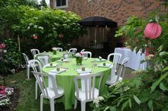 Fresh ideas for Garden party. Place Settings, Table Settings, Outdoor Furniture Sets, Outdoor Decor, A Table, Fresh, Table Decorations, Garden, Party