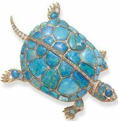 Rare Antique Opal Diamond Turtle Pin