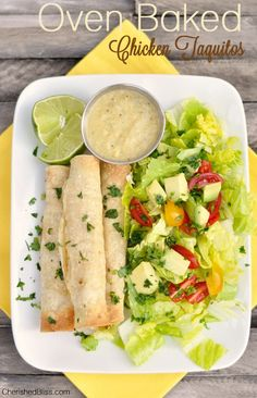 When I put Oven Baked Chicken Taquitos on the menu all my kiddos get so excited. I have been making these taquitos for a few years and they are always a crowd pleaser. Mexican Dishes, Mexican Food Recipes, Dinner Recipes, Ethnic Recipes, Healthy Recipes, Cooking Recipes, Oven Baked Chicken, Grilled Chicken, Fajitas