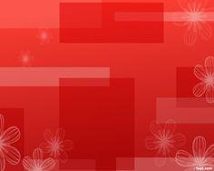 Fondo de PowerPoint abstracto con diseño de cuadros de colores rojos y floral