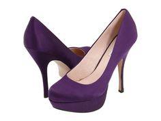 Purple shoes wedding 2011 :  wedding purple shoes wedding satin coloured Steve Madden Partyy